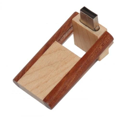 USB stick 2 kleuren hout schuif-draaimodel (8GB)