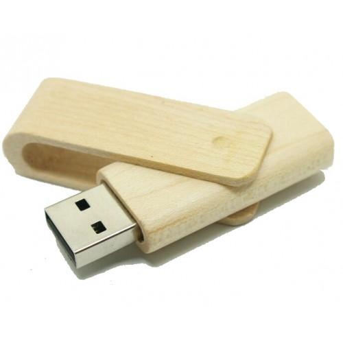 USB stick bamboe uitklap model 16GB