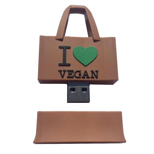 USB stick I love Vegan tas 16GB