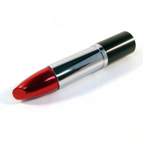 USB-stick lippenstift zilver / rood (8GB)