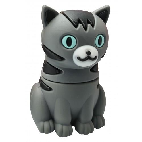 USB-stick schattige kat / poes grijs met zwarte strepen 8GB