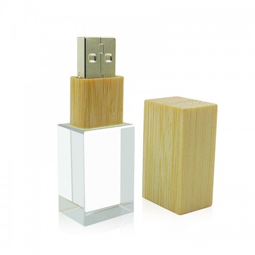 USB-stick glas en hout (32GB)